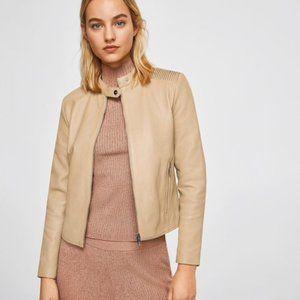NWOT Gorgeous 100% Sheep Leather Jacket
